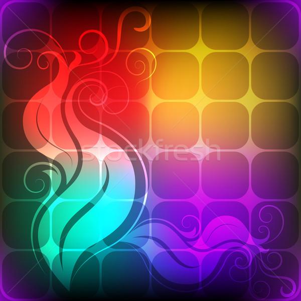 аннотация красочный цветочный элемент текстуры обои Сток-фото © lenapix