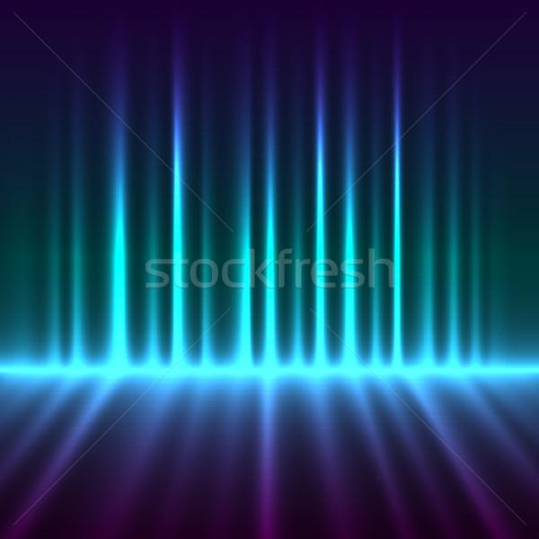 抽象的な オーロラ ライト ベクトル 光 芸術 ストックフォト © lenapix