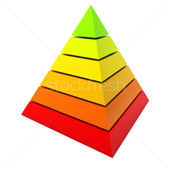 Color pyramid diagram isolated on white background. Stock photo © lenapix