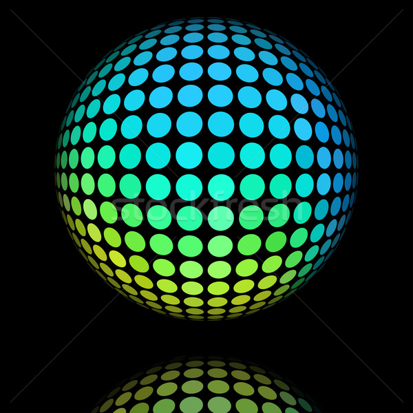 Yellow and cyan circle textured ball. Stock photo © lenapix