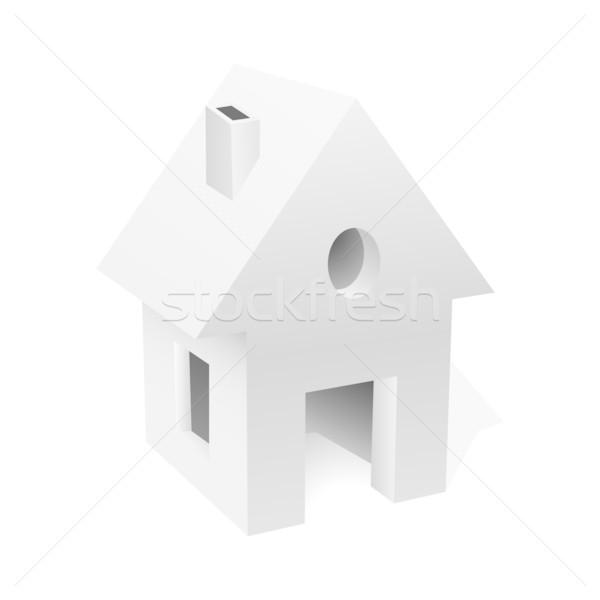 Piccolo casa bianca business casa costruzione costruzione Foto d'archivio © lenapix