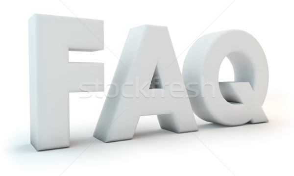 FAQ - Frequently Asked Question abbreviation 3D letters isolated Stock photo © lenapix