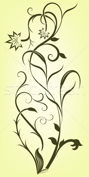 Abstract floral branch vector design element.  Stock photo © lenapix
