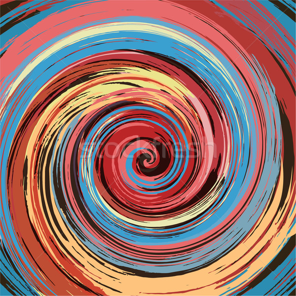 Abstract colorful paint swirl vector background. Stock photo © lenapix