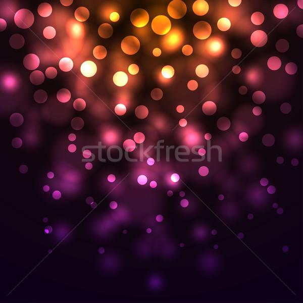 Stock foto: Abstrakten · fallen · Lichter · dunkel · Party · Licht