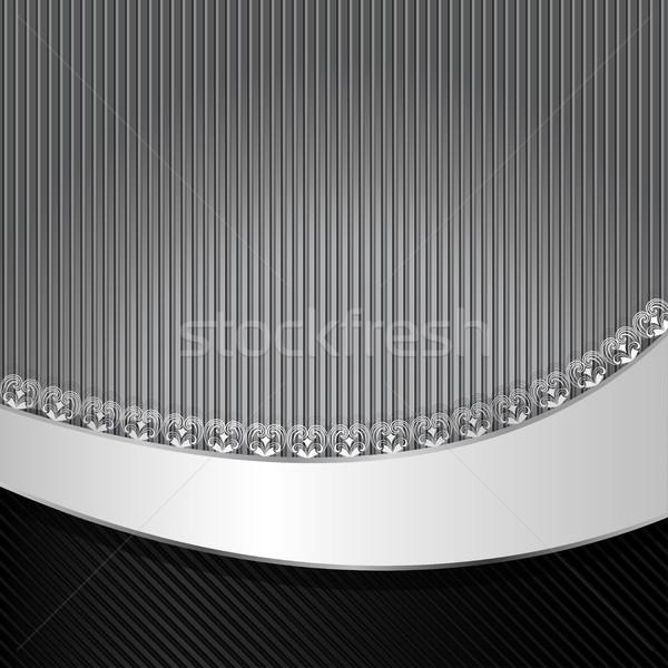 Negro gris a rayas vector ondulado espacio de la copia Foto stock © lenapix