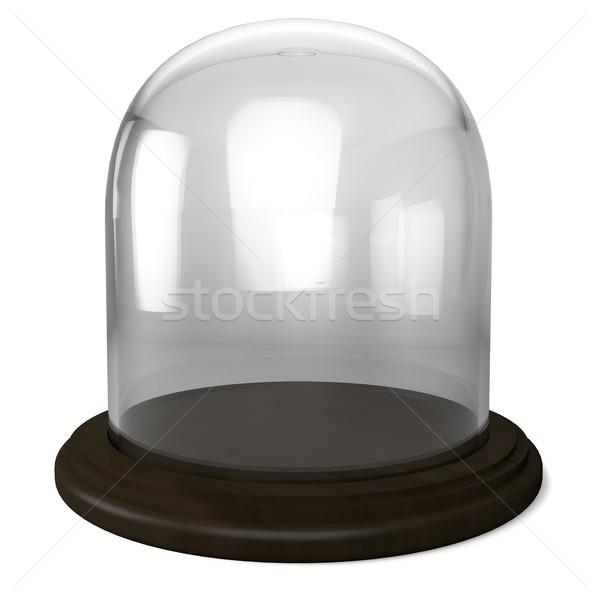 üres üveg kupola fából készült izolált fehér Stock fotó © lenapix
