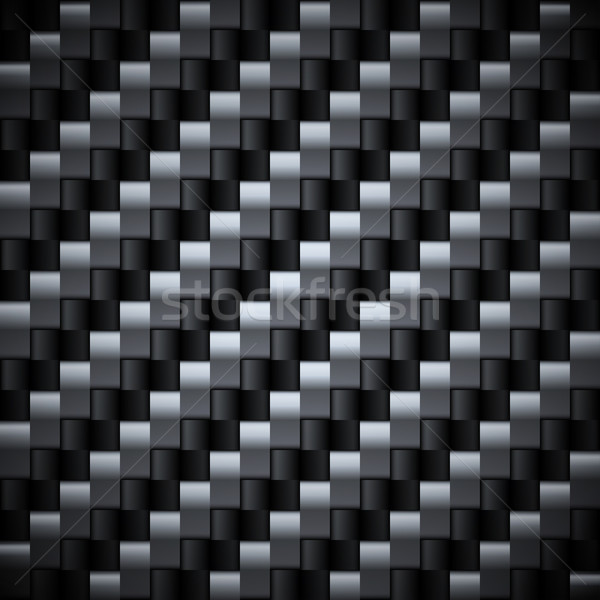 Seamless silver and black carbon vector texture. Stock photo © lenapix