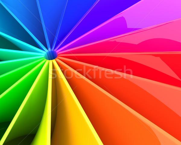 Abstract colorato 3D turbinio deformata lucido Foto d'archivio © lenapix