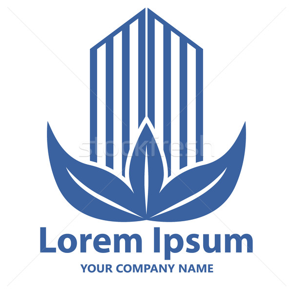 Abstract costruzione foglie emblema logo design vettore Foto d'archivio © lenapix