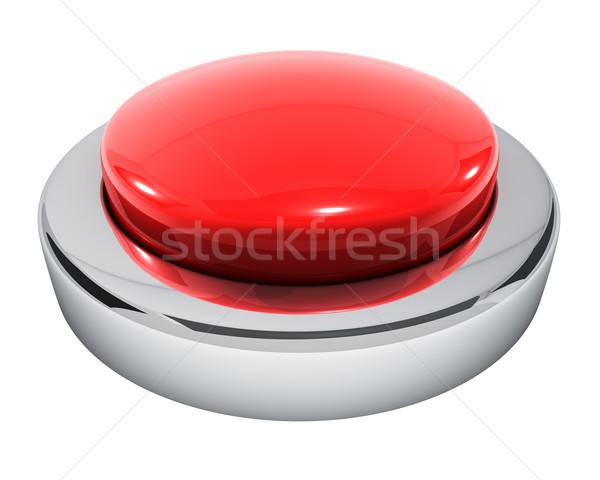 Groot Rood knop geïsoleerd witte technologie Stockfoto © lenapix