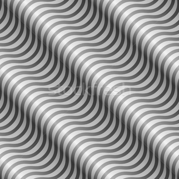 Abstract black and white diagonal wavy stripes vector pattern. Stock photo © lenapix