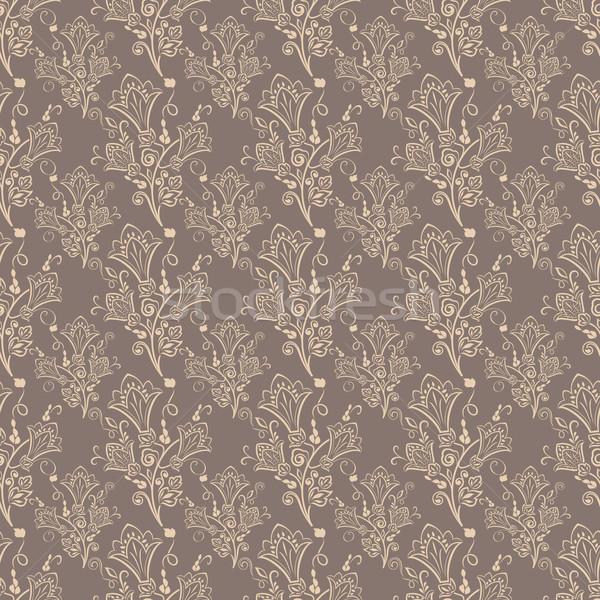Kahverengi vektör duvar kağıdı model Stok fotoğraf © lenapix
