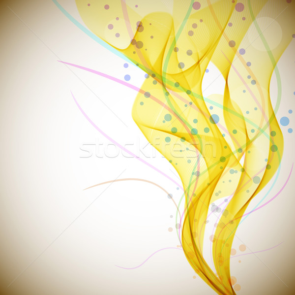 Yellow smoke stream vector background with copy space. Stock photo © lenapix