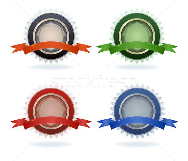Colore qualità etichette isolato bianco segno Foto d'archivio © lenapix