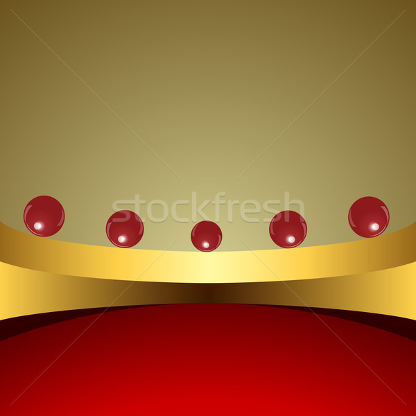 Abstract background with red balls on golden base Stock photo © lenapix