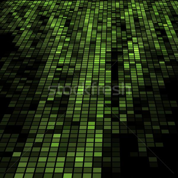Dark green 3D mosaic technology background. Stock photo © lenapix
