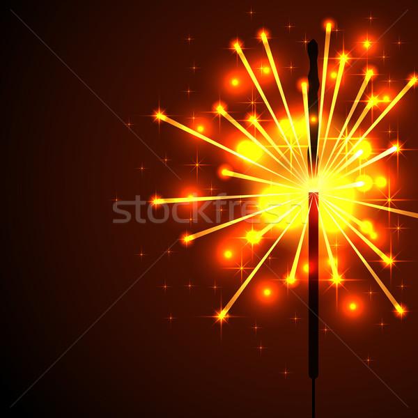 Bengáli tűz szikrák vektor copy space buli Stock fotó © lenapix