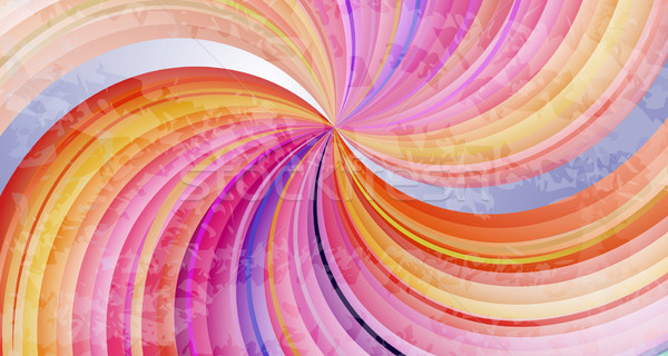 Abstract colorful twisted rays vector background. Stock photo © lenapix