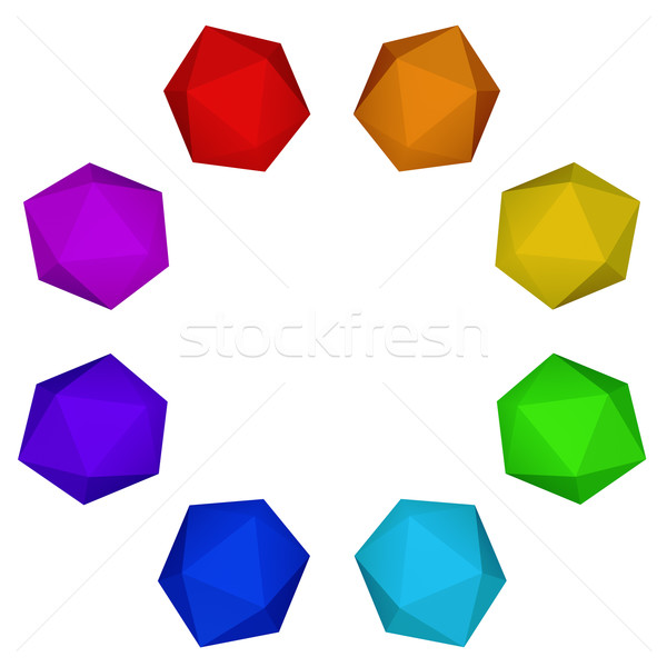 Spectrum colorful platonic ring Stock photo © lenapix