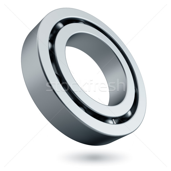 Steel spherical roller bearing isolated Stock photo © lenapix