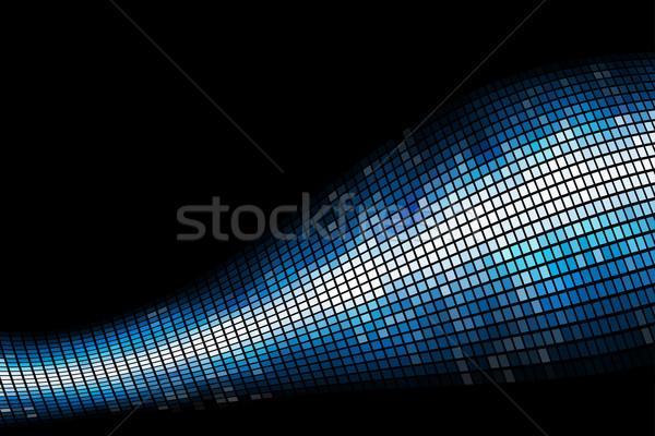 Stockfoto: Abstract · Blauw · licht · mozaiek · vector · exemplaar · ruimte