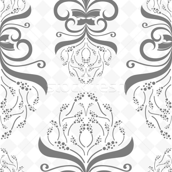 无缝 装饰的 黑白 花朵图案 花 春天 商业照片 lenapix