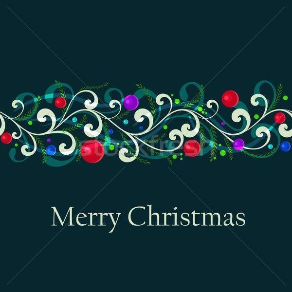 Absztrakt karácsony keret vektor kártya végtelenített Stock fotó © lenapix
