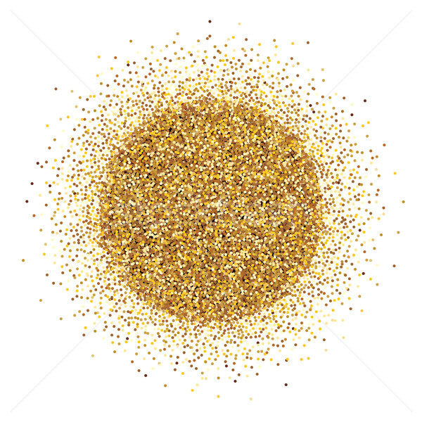 Round pile of gold tinsel on white background. Stock photo © lenapix