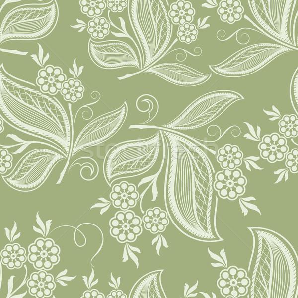 Naadloos groene voorjaar vector textuur Stockfoto © lenapix