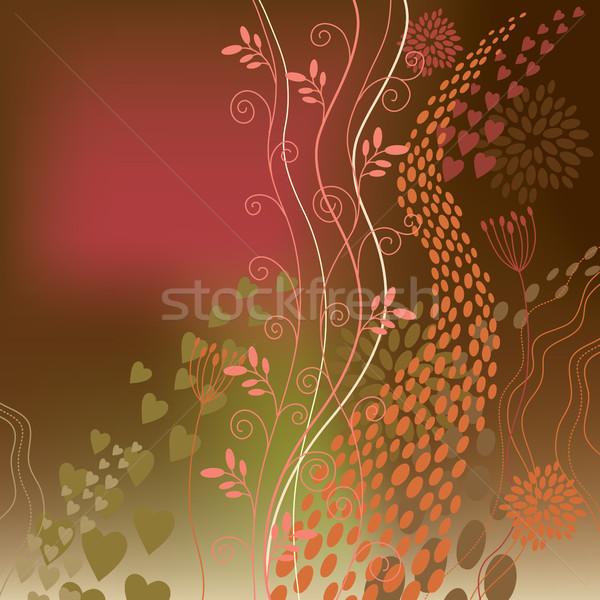 örnek bahar yaprak doğum günü güzellik Stok fotoğraf © Lenlis