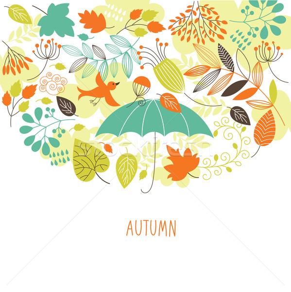 ストックフォト: 秋 · 実例 · ツリー · 自然 · 背景 · 美