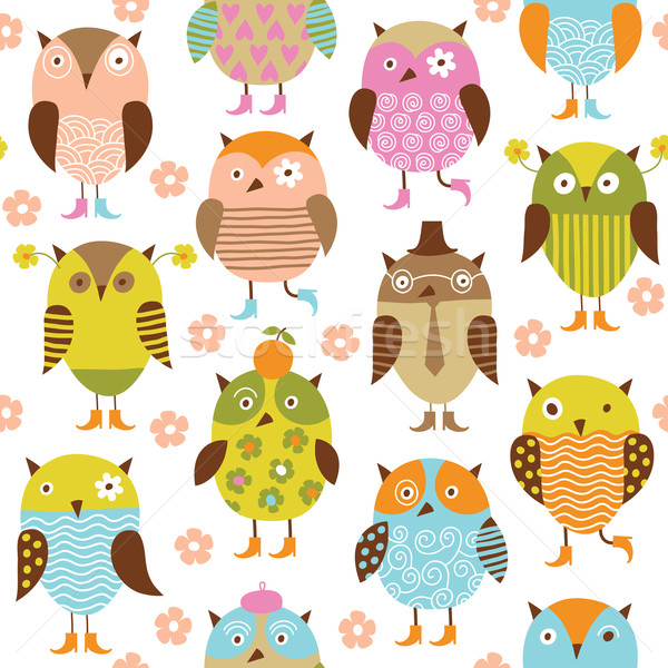 set of cartoon birds  Stock photo © Lenlis