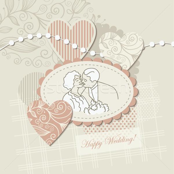 挨拶 グリーティングカード 結婚式 パーティ 愛 ストックフォト © Lenlis