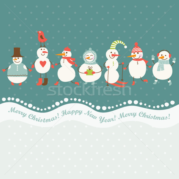 greeting Christmas and New Year's card Stock photo © Lenlis