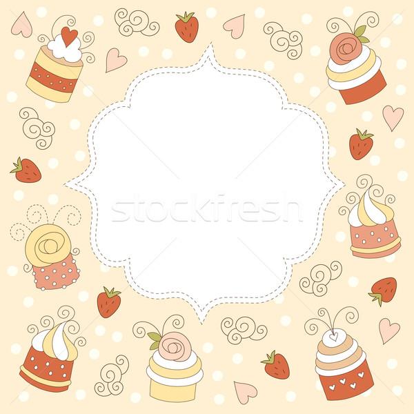 グリーティングカード 結婚式 バラ 幸せ フレーム カード ストックフォト © Lenlis
