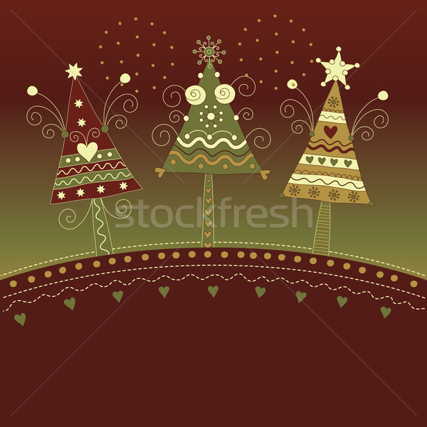 クリスマスツリー フレーム クリスマス 休日 お祝い ストックフォト © Lenlis