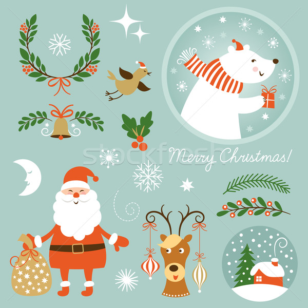 Christmas Clip Art Stock photo © Lenlis