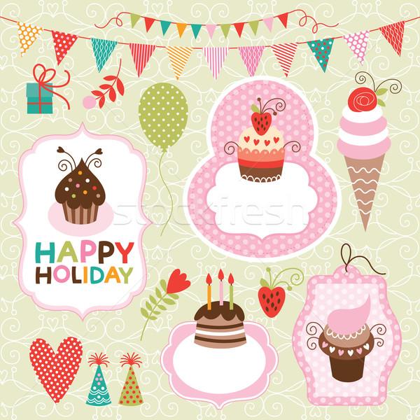 休日 歳の誕生日 チョコレート にログイン フラグ ストックフォト © Lenlis