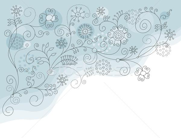 クリスマス 青 ボール 休日 漫画 ストックフォト © Lenlis