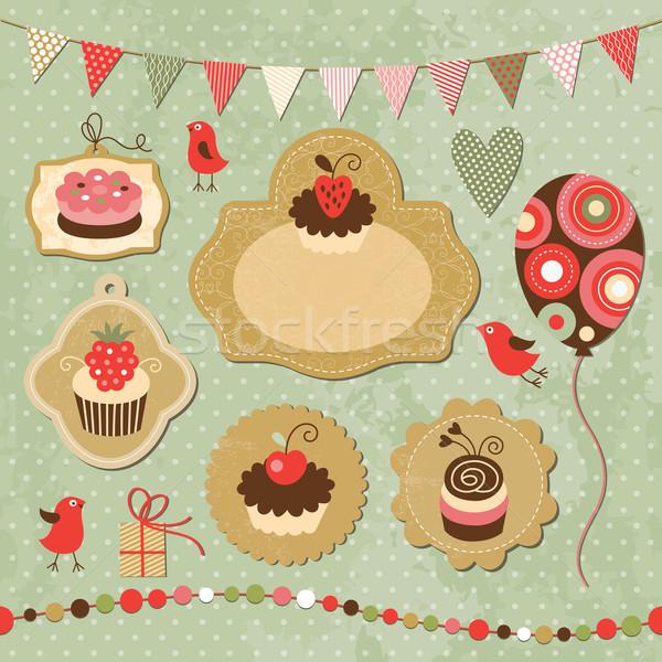 休日 ヴィンテージ セット 歳の誕生日 チョコレート にログイン ストックフォト © Lenlis