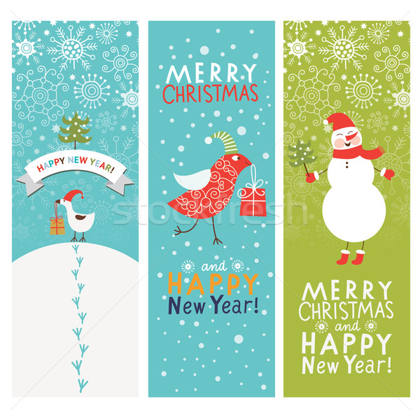 Set of Christmas and New Year's vertical banners  Stock photo © Lenlis