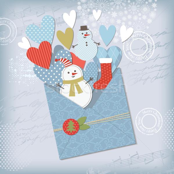 挨拶 クリスマス 新しい 年 カード 愛 ストックフォト © Lenlis