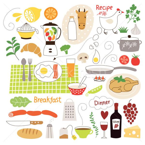 食品 イラスト コレクション 材料 ワイン 健康 ストックフォト © Lenlis