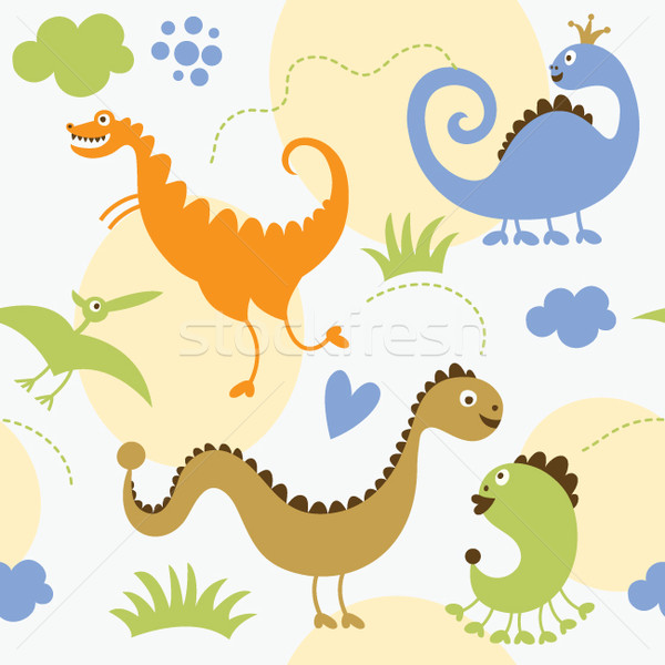seamless pattern with dinosaurs Stock photo © Lenlis