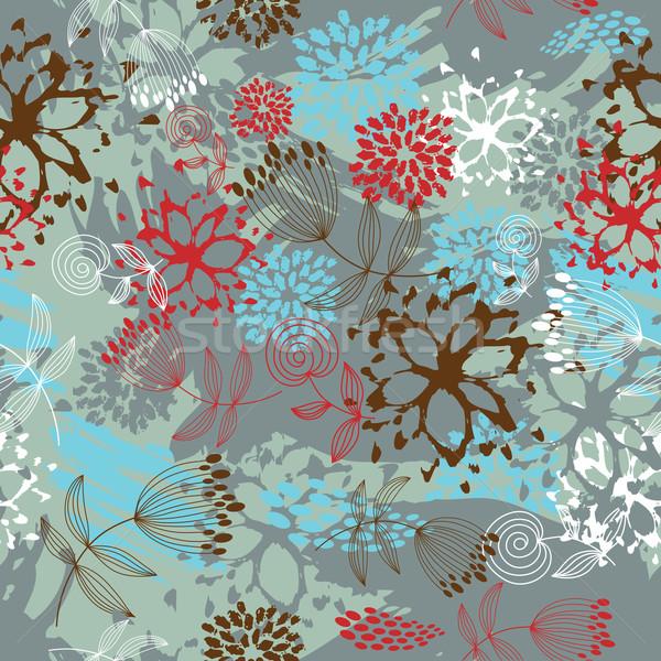 花 抽象的な デザイン 芸術 葉 ストックフォト © Lenlis