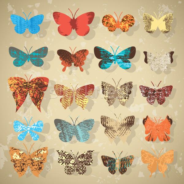 セット 蝶 異なる テクスチャ 自然 光 ストックフォト © Lenlis