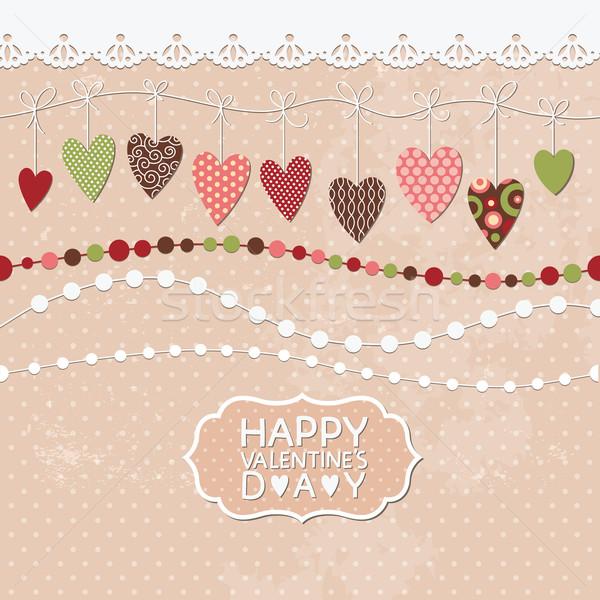 バレンタインデー カード 愛 中心 背景 美 ストックフォト © Lenlis