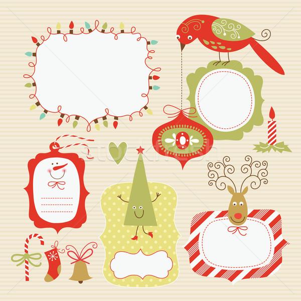 セット クリスマス 要素 子供 デザイン ストックフォト © Lenlis