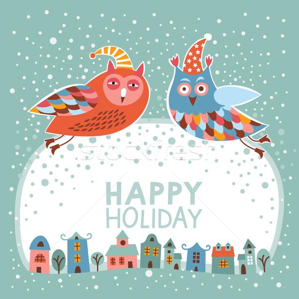 クリスマス カード 子供 子供 雪 ストックフォト © Lenlis
